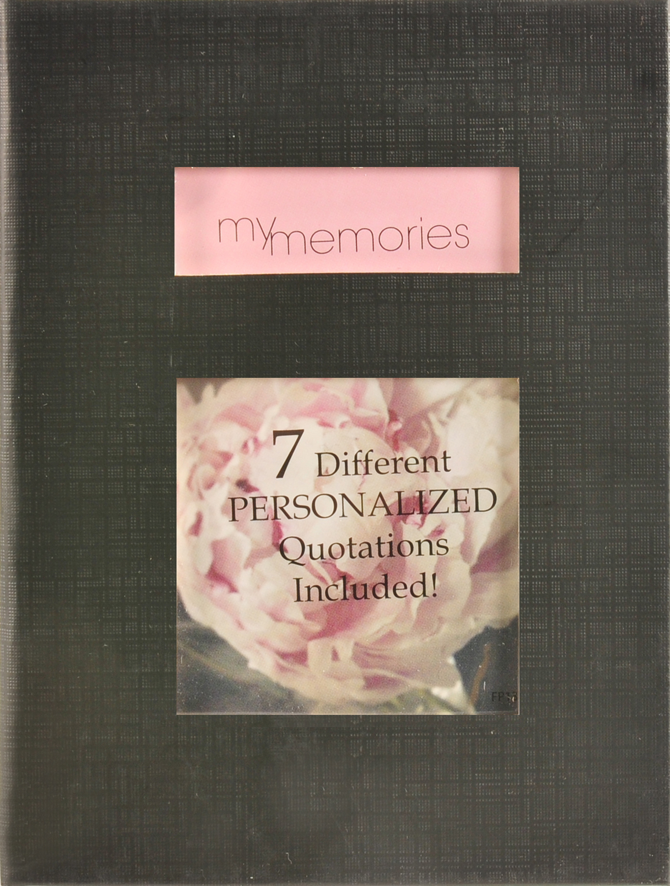Pinnacle Frames and Accents 1UP Black Cloth Photo Album